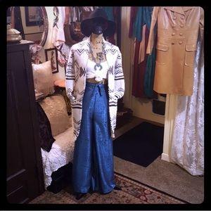 Vintage 2 Pc Ethnic Set Pants & Top